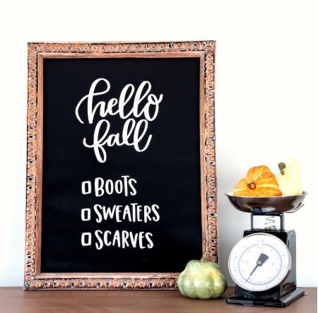 Fall Sign Idea With Cricut