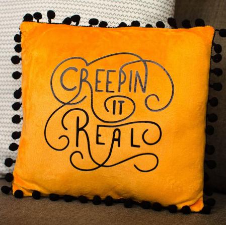 Halloween Iron On Pillow