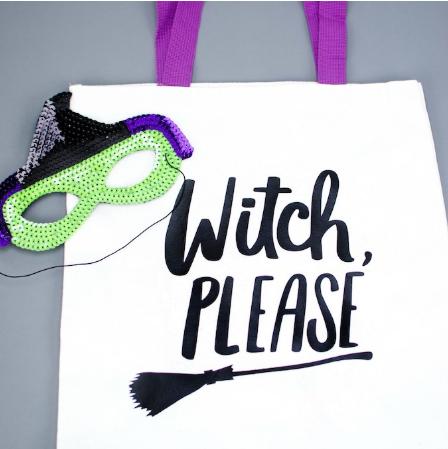 Halloween Iron On Tote Bag