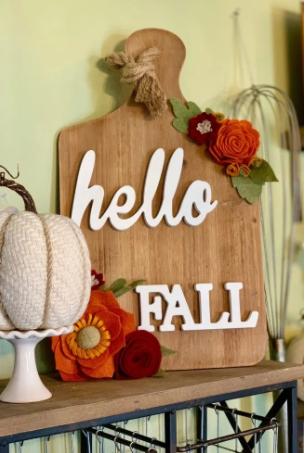 Hello Fall Decor With Cricut Felt Flowers