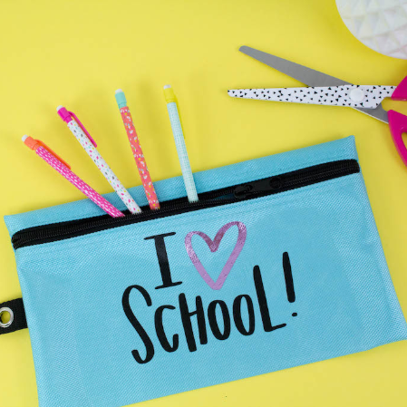 Iron On Decal Pencil Case