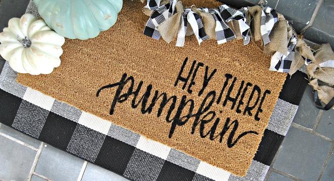 Pumpkin Welcome Door