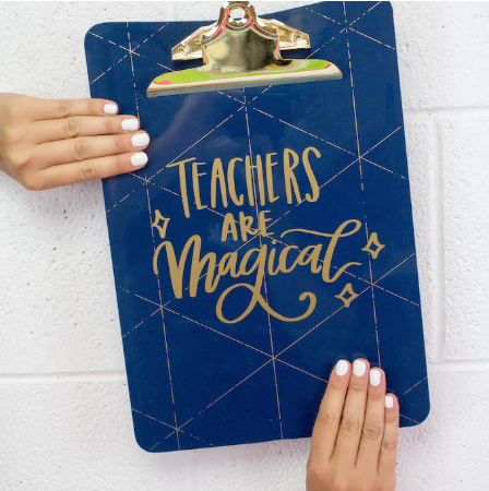 Vinyl Clipboard Teacher Gift Idea