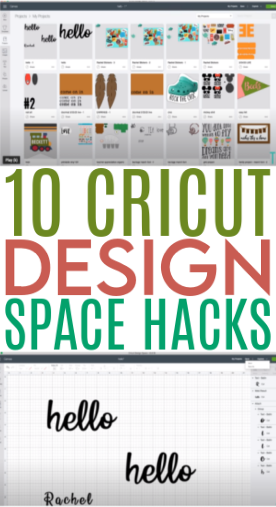10 Cricut Design Space Hacks