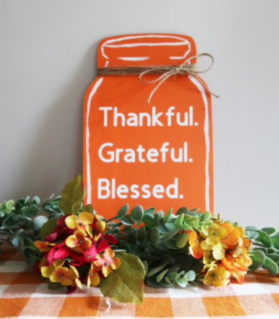 Thanksgiving Mason Jar Sign