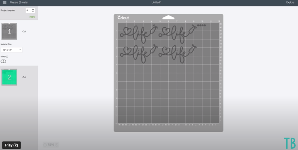 Increase The Number Of Copies In The Make It Screen Of Cricut Design Space