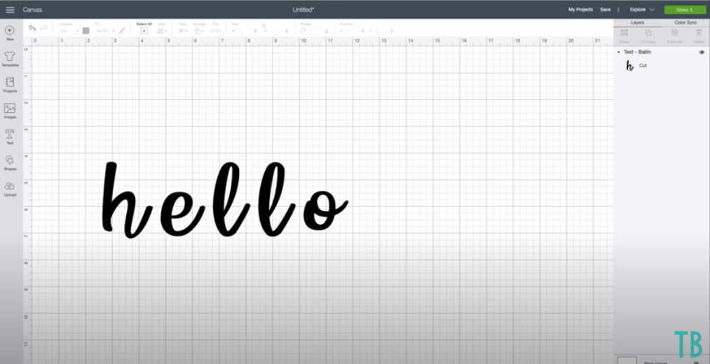 Welding Letters In Cricut Design Space