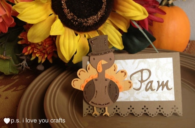 Thanksgiving Place Card With Turkey