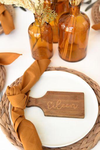 Cricut autumn decor ideas - Tablescape