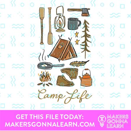 Camp Card + Sticker