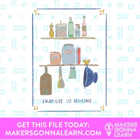 Cooking Card + Sticker