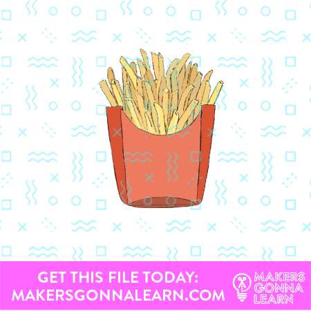 Fries Card + Sticker