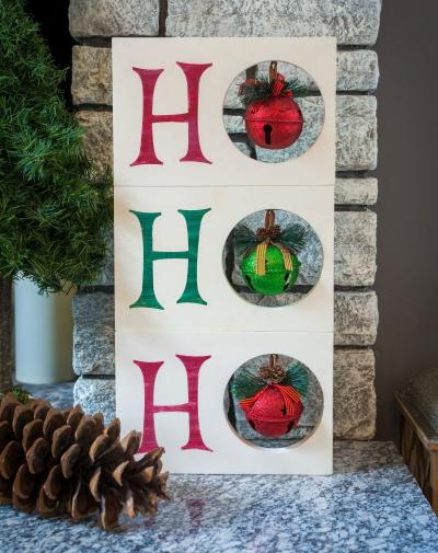 Ho Ho Ho Sign Christmas Decor