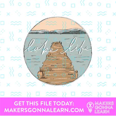 Lake Card + Sticker