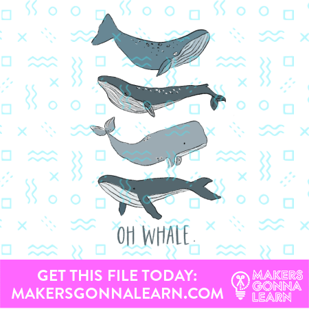 Oh Whale Card + Sticker