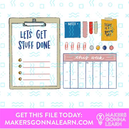 Planner Card + Sticker