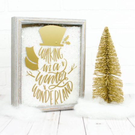 Snow Filled Christmas Shadow Box