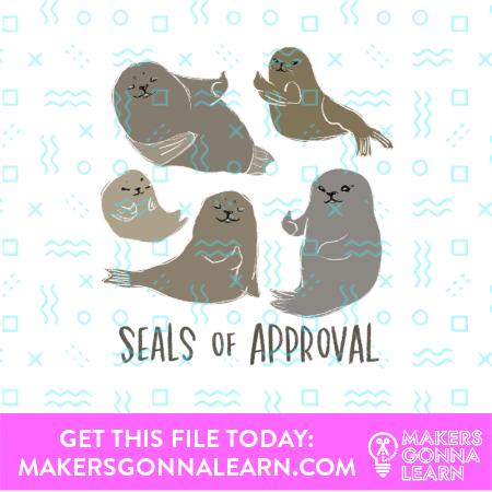 Seals Card + Sticker