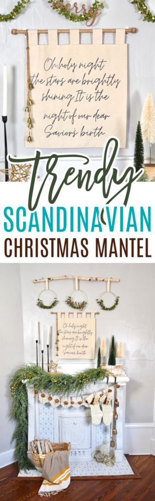 Trendy Scandinavian Christmas Mantel
