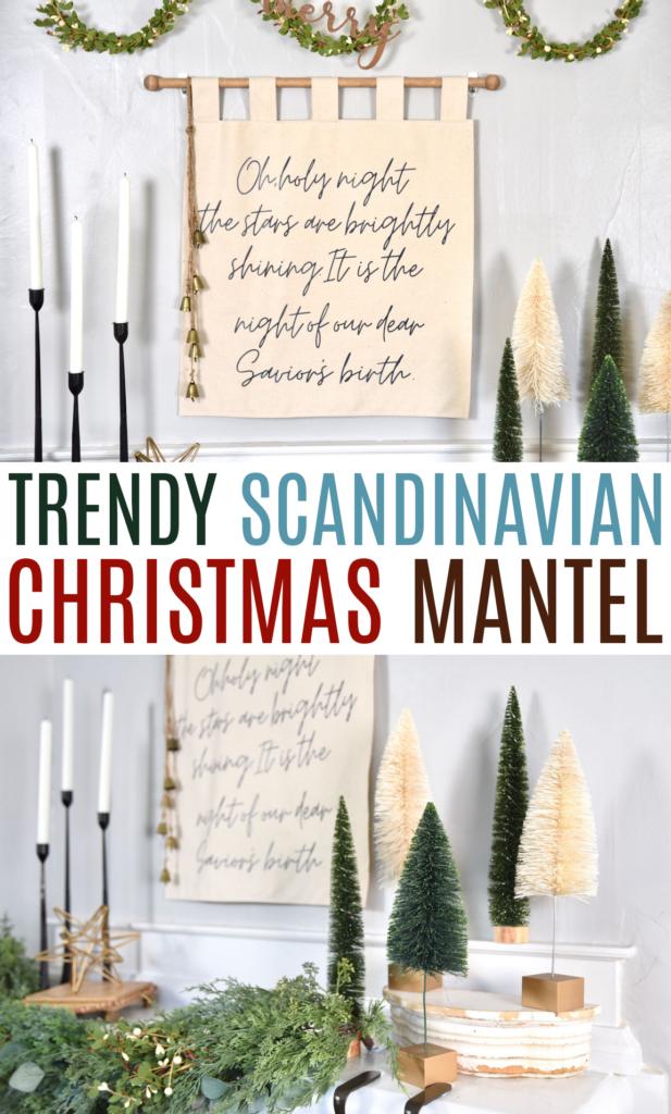 Scandinavian Christmas Mantel