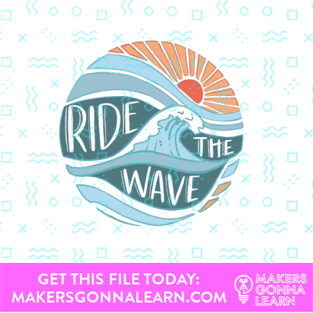 Wave Card + Sticker