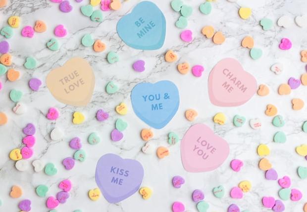Cricut Print then Cut Conversation Heart Valentines