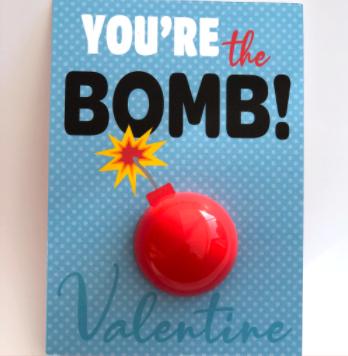 Diy Youre The Bomb Valentine Lip Balm using EOS lip balm sphere