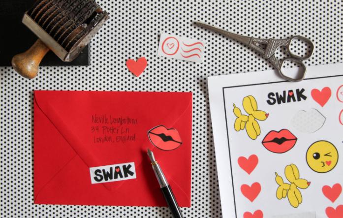 Love Notes Print Then Cut Valentine Stickers