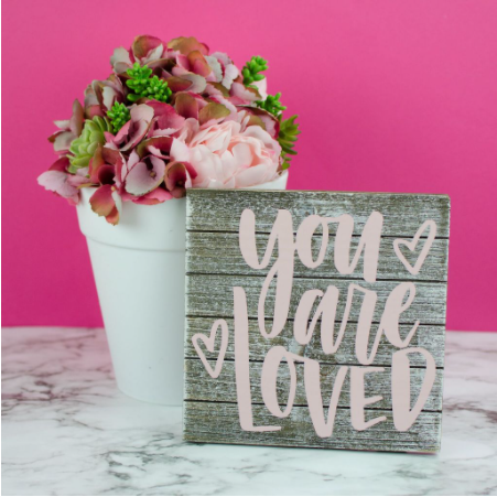 You Are Loved Wooden Placque Frame