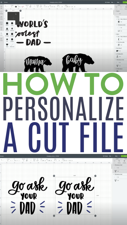 How To Personalize A Cut File 1