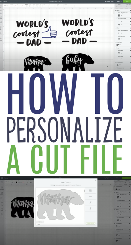 How To Personalize A Cut File
