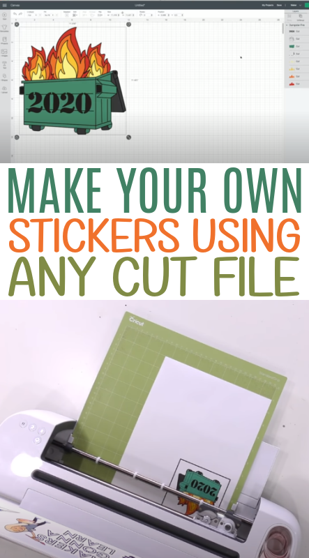 Make Your Own Stickers Using Any Cut File