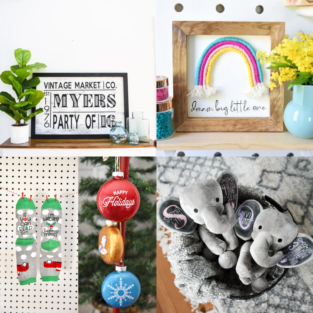 Signs Personalized Stuffed Toys Christmas Ornaments And Socks You Can Make And Sell With Your Cricut