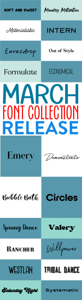 March Font Collection Release