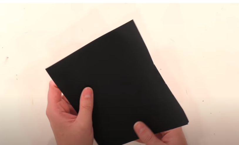 Scrap Piece Of Black Vinyl