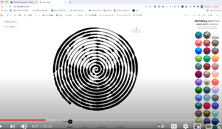 Toggle At The Bottom To Increase Or Decrease Spirals