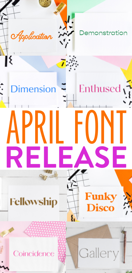 April Font Release