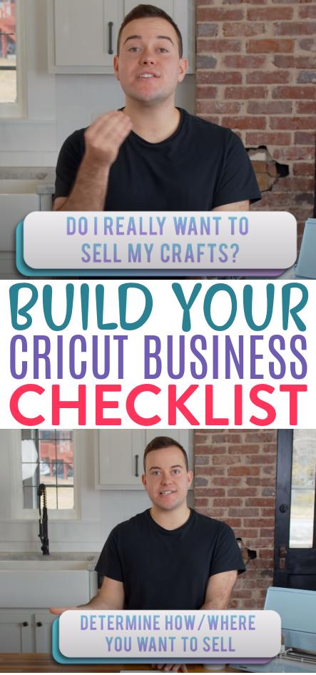 Build Your Cricut Business Checklist 1