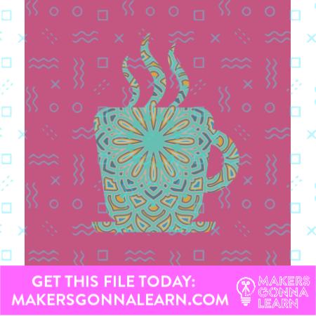 Mandala Coffee Cup