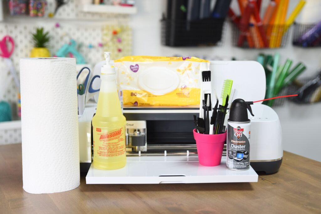 supplies you need for cleaning your cricut machine