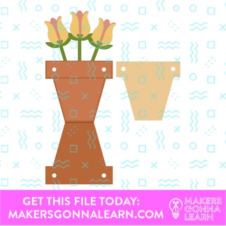 Tulip In Planter Card