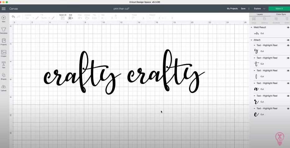 Joining Text In Cricut Design Space