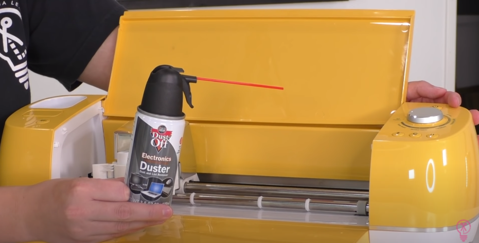Using Canned Air To Clean Cricut