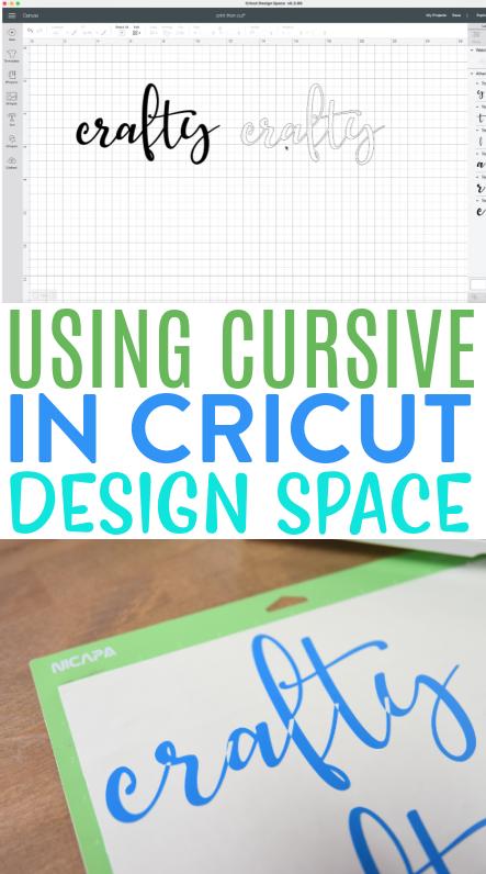 Using Cursive In Cricut Design Space 1