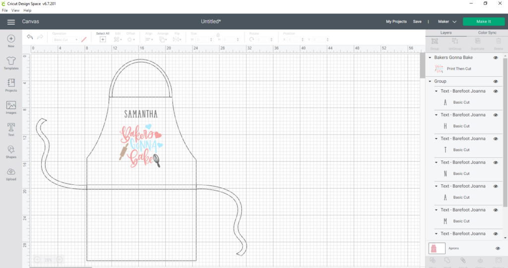 Apron Template Ready To Cut