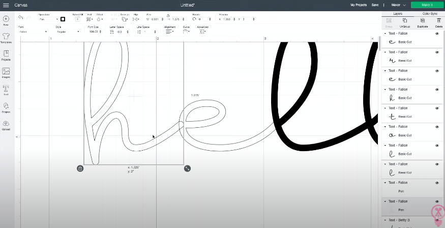 change letters to draw lines so you can see the overlap where letters join and fix them