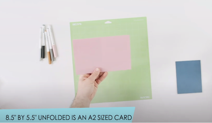 Unfolded A2 Card Which Is 8.5 By 5.5 Inches 1