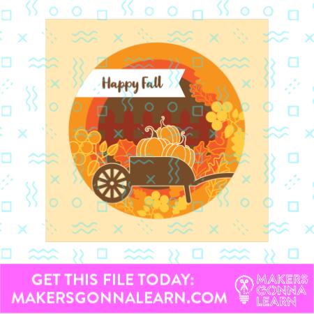 Happy Fall Shadow Box