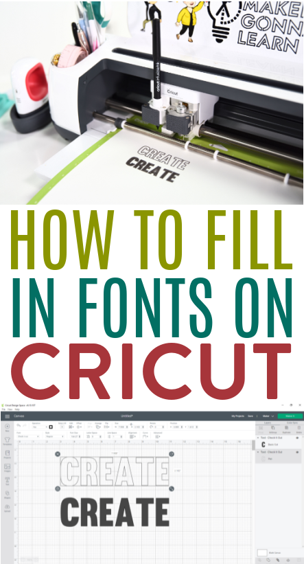 How To Fill In Fonts On Cricut 2