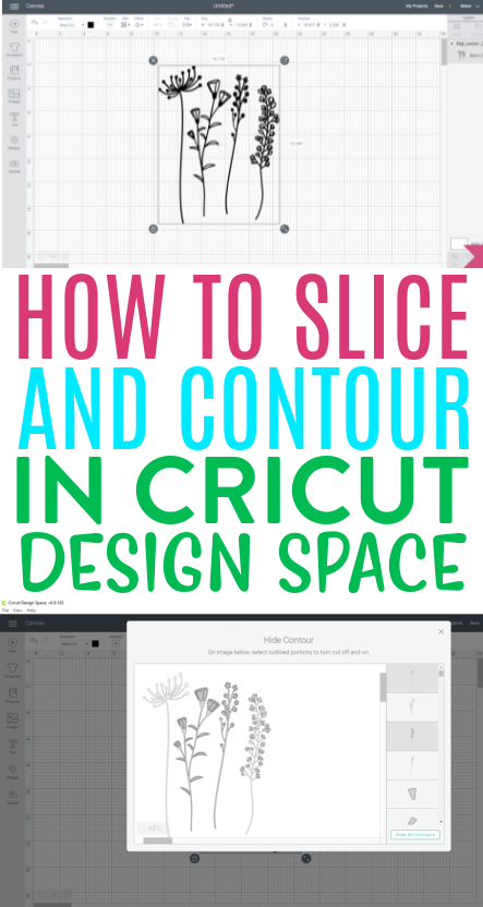 How To Slice And Contour In Cricut Design Space 1